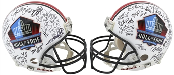 Hall of Fame Legends Signed Riddell PROLINE HOF Helmet with Montana, Elway, Sanders, etc. (38 Sigs)(Beckett/BAS)