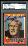 1971 Topps Terry Bradshaw Signed Rookie Card (PSA/DNA Encapsulated)
