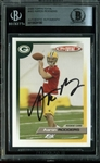Aaron Rodgers Signed 2005 Topps Total Rookie Card (Beckett/BAS Encapsulated)