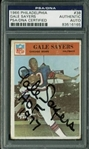 Gale Sayers Signed 1966 Philadelphia Rookie Card (PSA/DNA Encapsulated)
