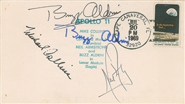Apollo 11 Crew Signed July 20th, 1969 Postmarked First Day Cover w/ Armstrong, Collins & Aldrin! (Beckett/BAS Guaranteed)