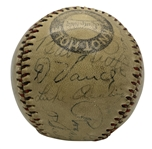 Historic Inaugural 1933 MLB All-Star Game & Others Multi-Signed Baseball w/ Ruth, Gehrig, Frisch & Others (Beckett/BAS)