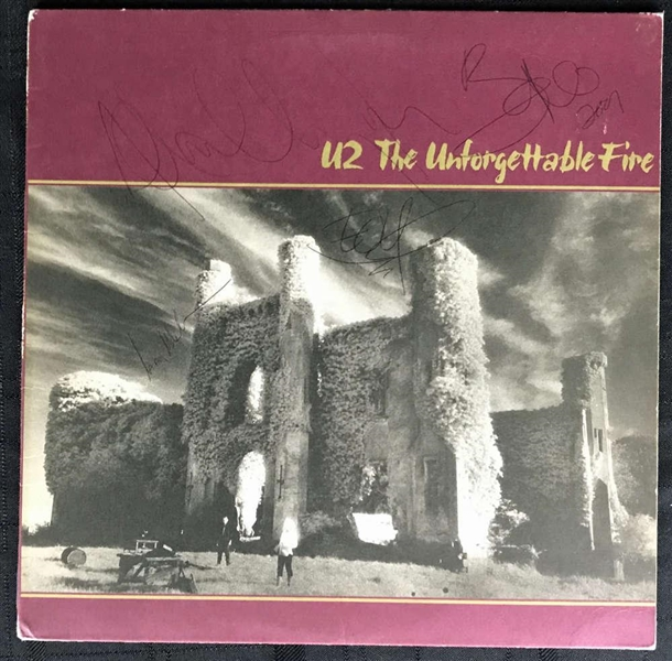 U2 Group Signed Unforgettable Fire Album w/ All Four Members! (JSA)