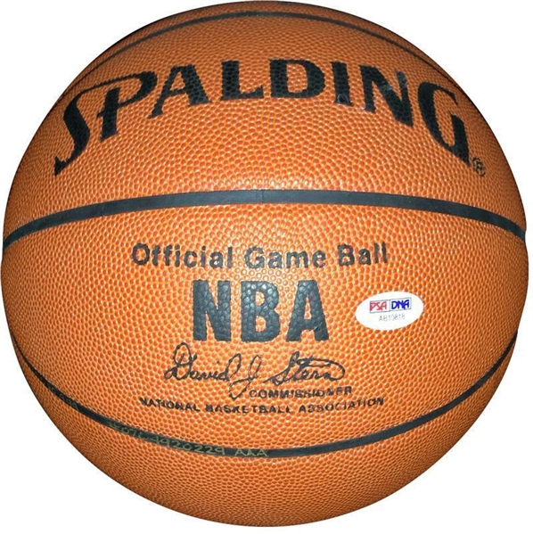 Wilt Chamberlain & Bill Russell Dual-Signed NBA Leather Game Model Basketball (PSA/DNA)