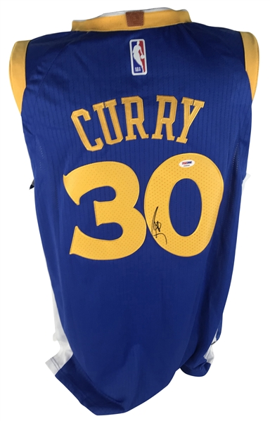 Stephen Curry Signed Golden State Warriors Jersey (PSA/DNA)