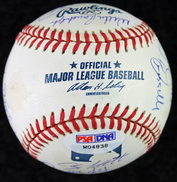 2000 WS Champion New York Yankees Team Signed OML Baseball w/ 18 Signatures! (PSA/DNA)