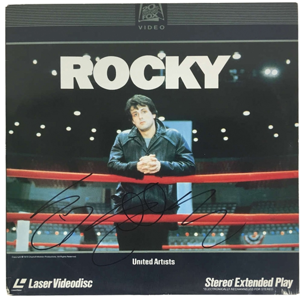 Sylvester Stallone Signed Original Rocky Laser Disc Record (PSA/DNA)