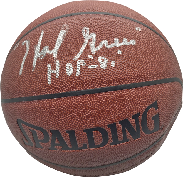 NBA Greats Lot of Three (3) Single Signed Basketballs w/ Spencer Haywood, Hal Greer & Wes Unseld (JSA)