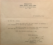 General George S. Patton Signed WWII Dated Typed 1944 Letter (Beckett/BAS Guaranteed)