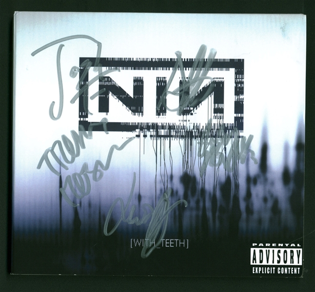 NIN: Nine Inch Nails Group Signed With Teeth CD Cover w/ Reznor & Others! (Beckett/BAS & JSA)