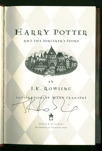 Harry Potter: J.K. Rowling Rare Signed First Edition Harry Potter & the Sorcerer's Stone Hardcover Book (JSA)