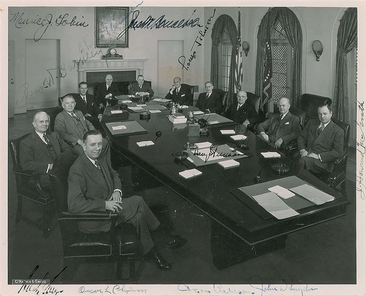 Harry S. Truman's Presidential Cabinet Multi-Signed 8 x 10 Photo w/ 10 Sigs (Beckett/BAS)