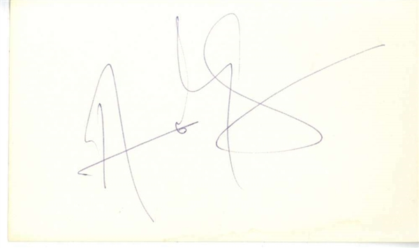 The Police: Andy Summers Vintage Signed 3 x 5 Index Card (Beckett/BAS)