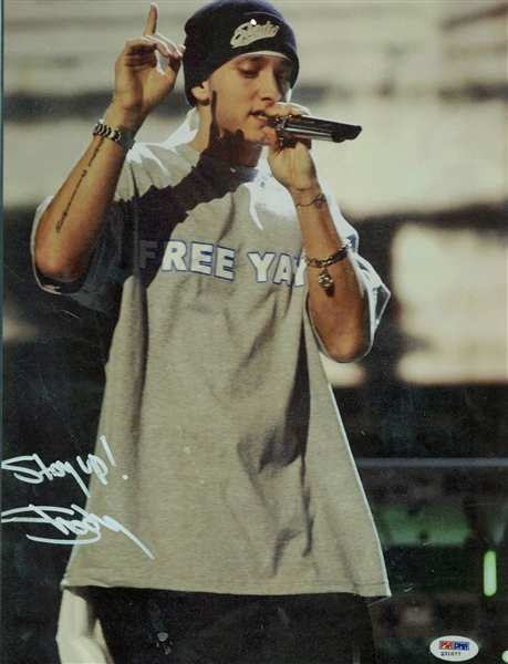Slim Shady Signed 11 x 14 Color Photo w/ Stay Up Inscription (PSA/DNA)