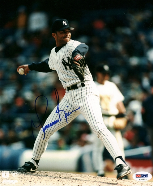 Mariano Rivera Choice Signed 8 x 10 Color Photo with Rookie Era Autograph (PSA/DNA)