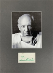 "Picasso Signed 2"" x 3.5"" Matted Album Page (Beckett/BAS Guaranteed)"