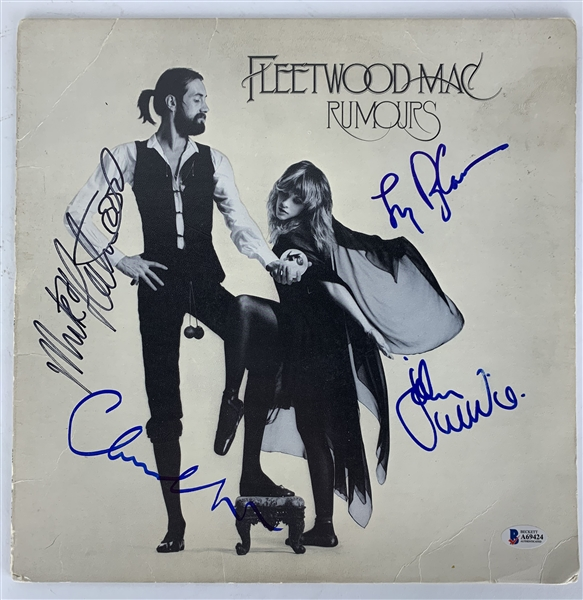 Fleetwood Mac: Group Signed Rumours Album w/ 4 Signatures (Beckett/BAS)
