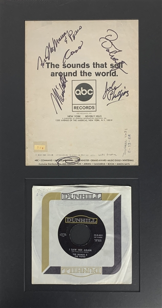Mamas & Papas Rare Group Signed  10 x 8 Program Page w/ Mama Cass! (Epperson/REAL Guaranteed)