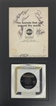 "Mamas & Papas Rare Group Signed  10"" x 8"" Program Page w/ Mama Cass! (Epperson/REAL Guaranteed)"
