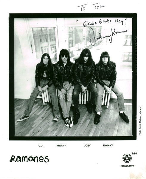 Johnny Ramone Signed Radioactive 8 x 10 Promotional Photograph (Epperson/REAL)