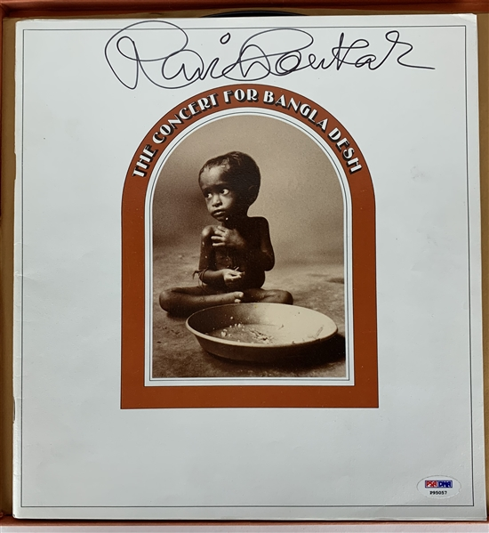 Ravi Shankar Signed Booklet from Songs for Bangladesh Box Set (PSA/DNA)