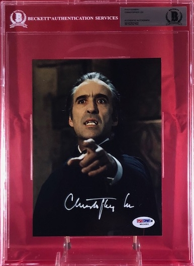 Christopher Lee Signed Dracula 6 x 8 Photograph (Beckett/BAS)
