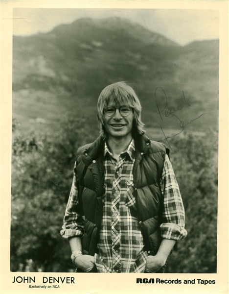 John Denver Signed 8 x 10 Photograph (Beckett/BAS Guaranteed)