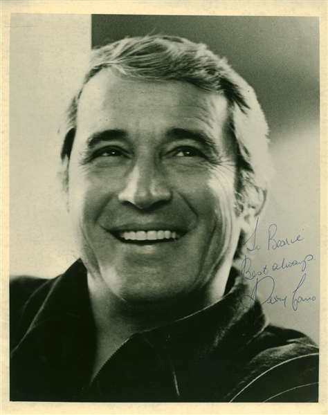 Perry Como Signed 8 x 10 Photograph (Beckett/BAS Guaranteed)