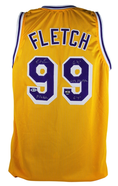 Chevy Chase Signed & Inscribed Fletch Lakers Jersey (PSA/DNA)