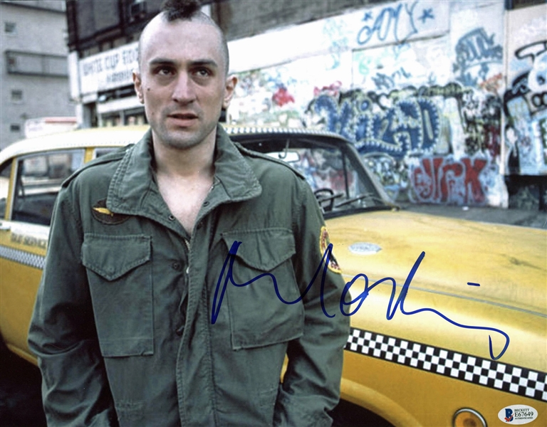 Robert DeNiro Taxi Driver Signed 11 x 14 Photo (BAS/Beckett)