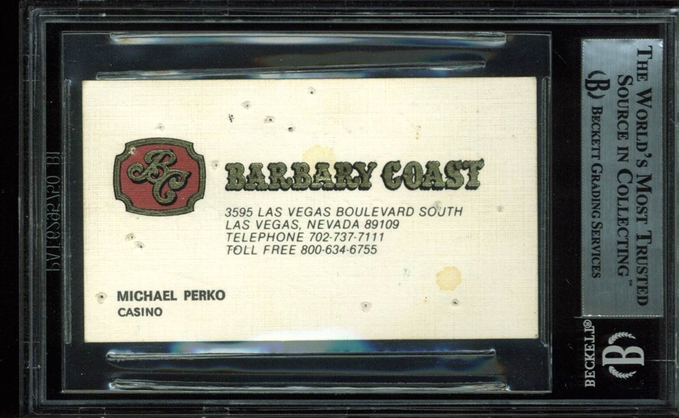 Willie Mays Vintage Signed Business Card (BAS/Beckett Encapsulated)
