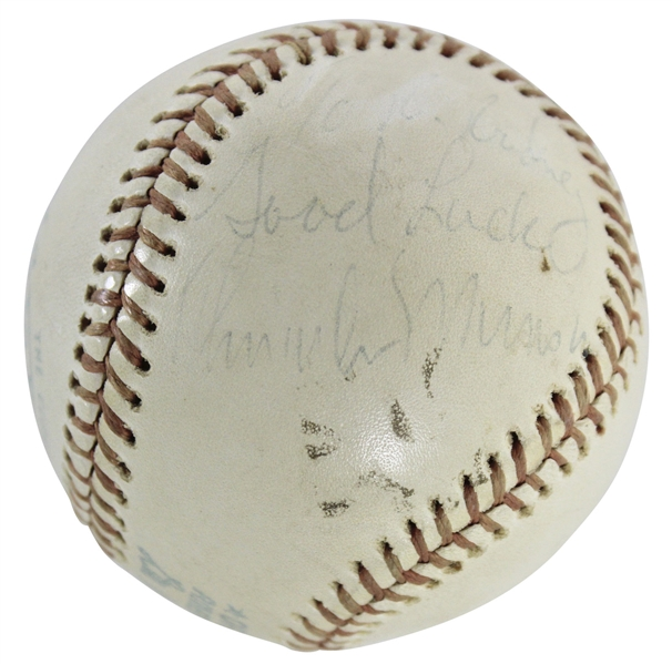 Ultra-Rare Thurman Munson Single Signed OAL (MacPhail) Baseball (JSA)