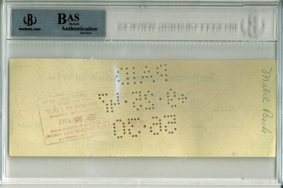 Orville Wright Signed 1947 Bank Check (PSA/DNA Encapsulated)
