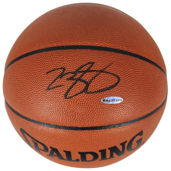 LeBron James Signed Official Leather NBA Basketball (Upper Deck)