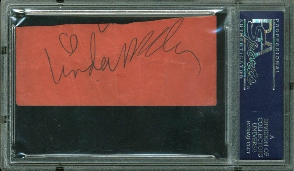 The Beatles: Paul & Linda McCartney Dual Signed 1.5 x 3 Album Page (PSA/DNA Encapsulated)
