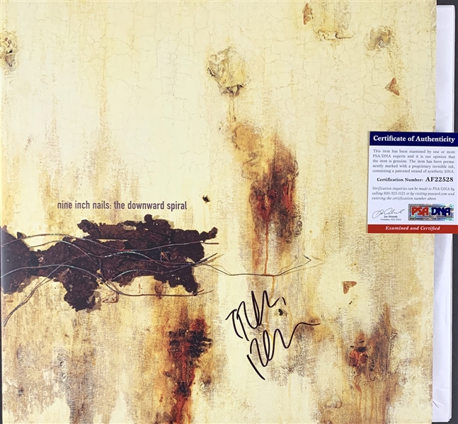Nine Inch Nails: Trent Reznor Signed The Downward Spiral Record Album (PSA/DNA)