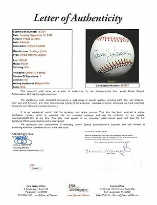Travis Jackson Desirable Single-Signed ONL Baseball (JSA)
