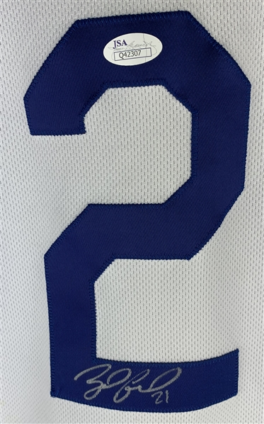 Zack Greinke Signed & Game Used 2015 LA Dodgers Jersey (JSA)