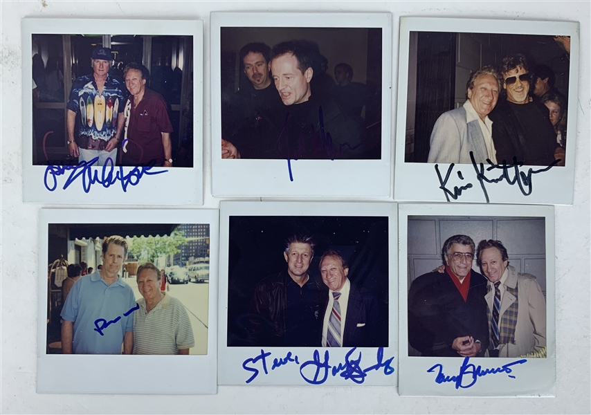 Music Icons Lot of Six (6) Signed 3.5 x 3.5 Photographs w/ John Paul Jones, Brian Wilson & Others!