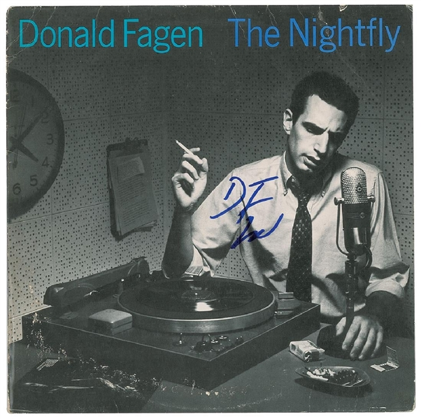 Steely Dan: Donald Fagen Signed Album - The Nightfly (John Brennan Collection)(Beckett/BAS Guaranteed)