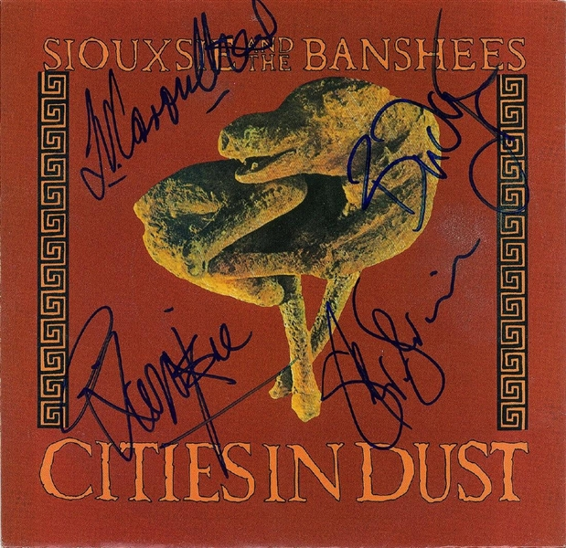 Siouxsie and the Banshees Signed Cities in Dust 45 RPM Record Album (John Brennan Collection)(Beckett/BAS Guaranteed)
