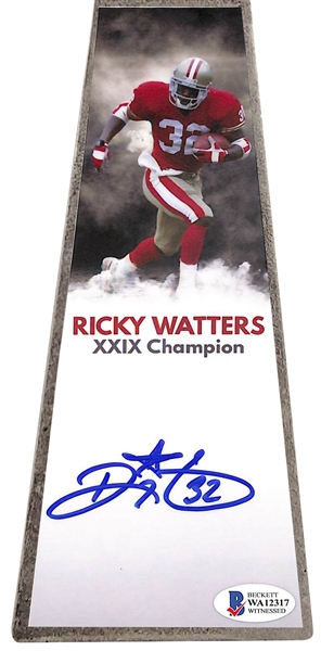 Ricky Watters Signed Vince Lombardi Replica Trophy (Beckett/BAS)
