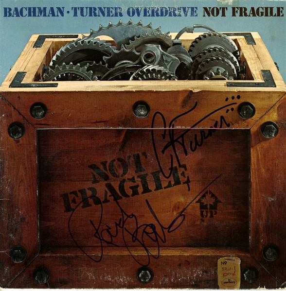 Rare Bachman-Turner Overdrive Signed Not Fragile Record Album w/ 2 Signatures (Beckett/BAS)