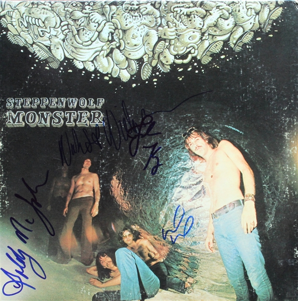 Steppenwolf Group Signed Monster Record Album (REAL/Epperson)