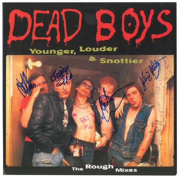 The Dead Boys Signed Young, Louder & Snottier Signed Record Album (John Brennan Collection)(Beckett/BAS Guaranteed)