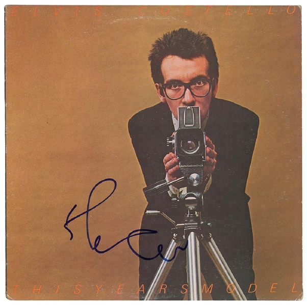 Elvis Costello Signed This Year's Model Record Album Cover (John Brennan Collection)(Beckett/BAS Guaranteed)