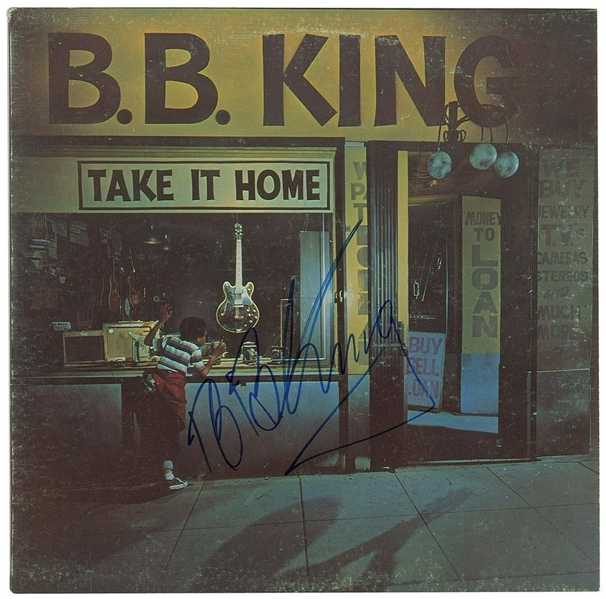 B.B. King Signed Take it Home Record Album (John Brennan Collection)(Beckett/BAS Guaranteed)