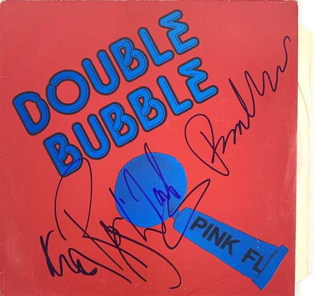 Pink Floyd Signed Double Bubble Album with Waters, Wright & Mason (John Brennan Collection)(Beckett/BAS Guaranteed)