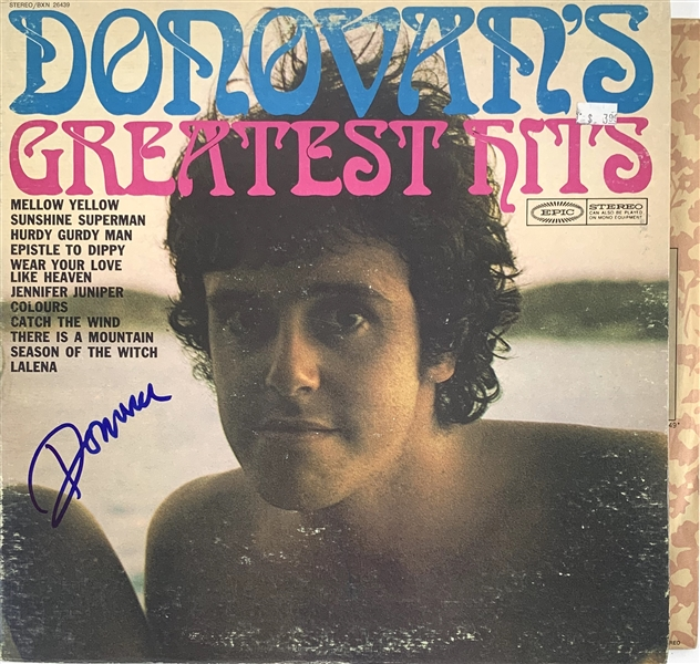 Donovan Signed Greatest Hits Record Album (John Brennan Collection)(Beckett/BAS Guaranteed)