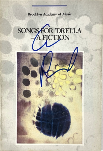 Lou Reed Signed Songs for 'Drella - A Fiction Performance Program (John Brennan Collection)(Beckett/BAS Guaranteed)